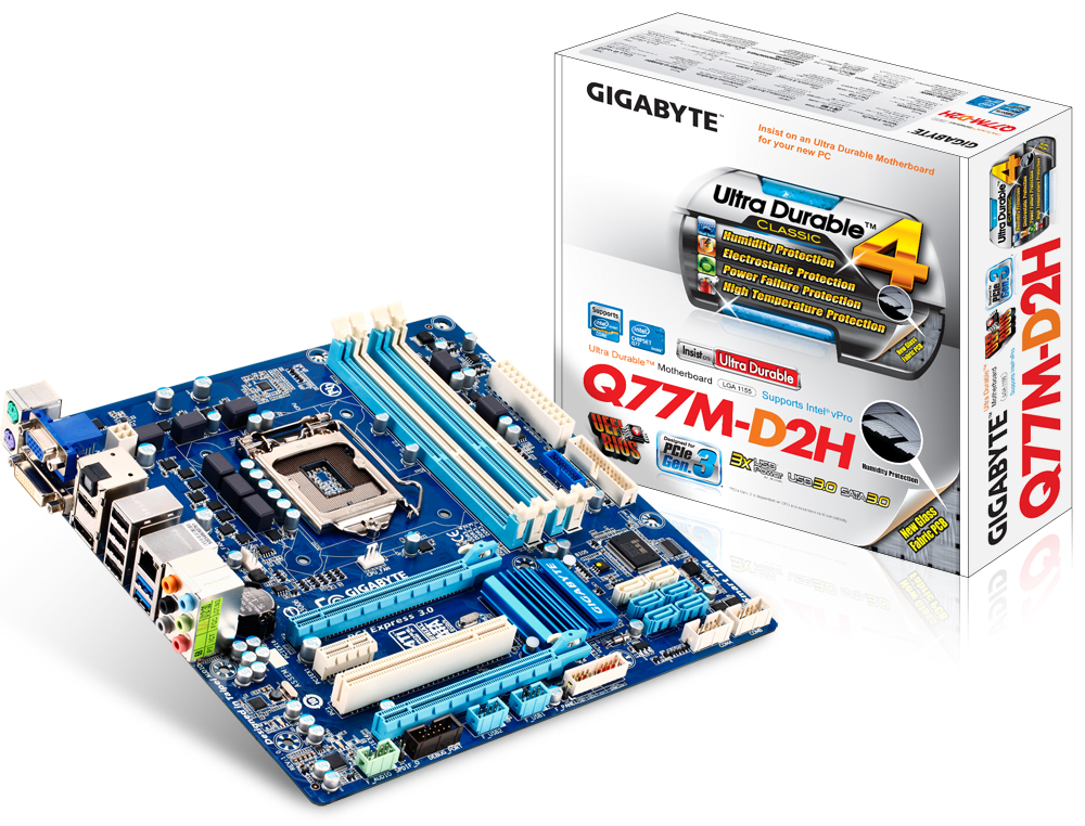Gigabyte GA-Q77M-D2H Microsoft UAA Drivers for PC