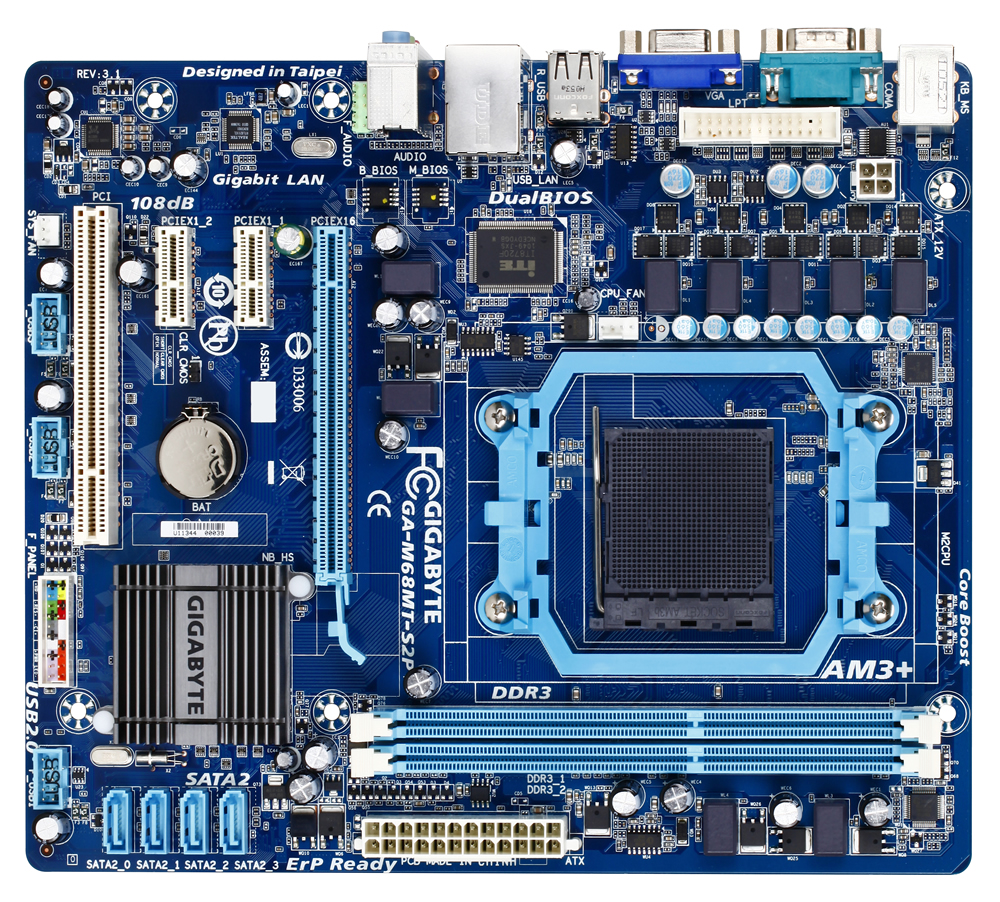 GIGABYTE - GA-M68MT-S2P AM3 NVIDIA GeForce /nForce a chipset Motherboard